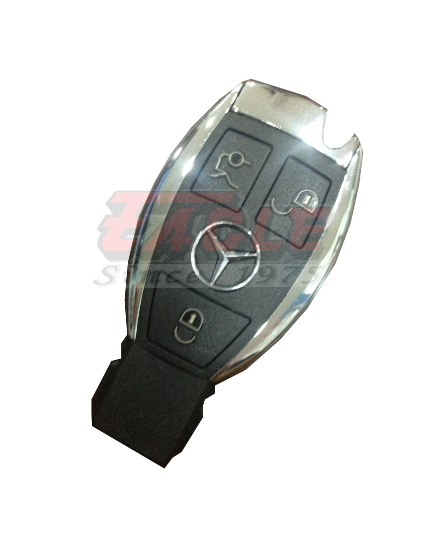 Mbesk000432 mercedes benz ir chrome remote 434mhz das4 bga for How to unlock mercedes benz without key